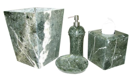 Exotic Green Marble : Exotic green marble bathroom accessory blowout