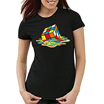 style3 Sheldon Cube Femme T-Shirt, Taille:XS