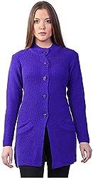 Montrex Women's Plain Coats (Montrex-6403Blue, Blue, L)