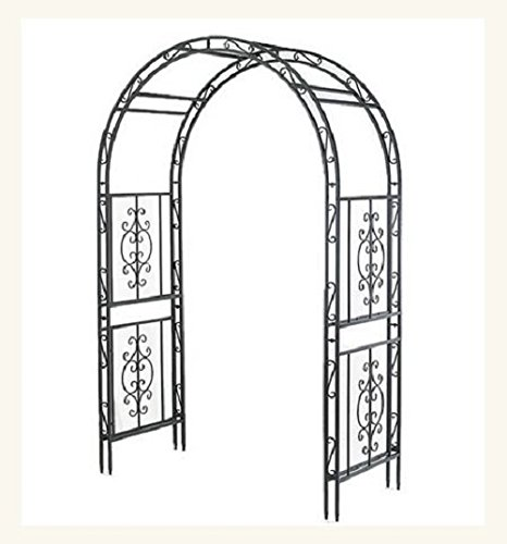Garden Arbor Archway DARK Bronze Finish Iron Patio Arbor Elegant & Stylish Perfect for Weddings, Lawns, Yards, and Patios NO RISK 100% MONEY BACK GUARANTEE the dark garden