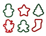 WILTON Grippy Cookie Cutter Set Of 6 - Christmas