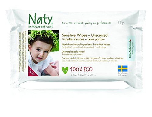 Nature Babycare Eco-Sensitive Wipes, Fragrance-Free,56 wipes (Pack of 12)