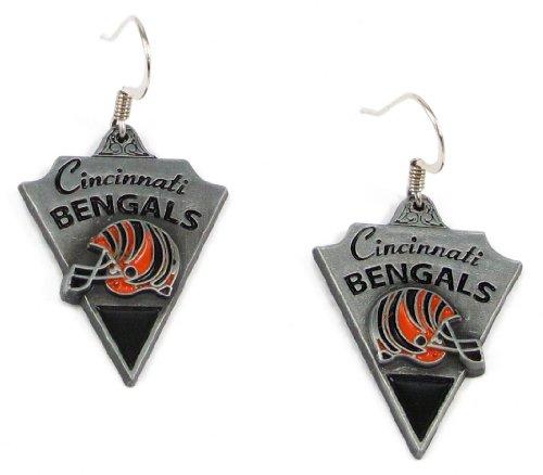 Cincinnati Bengals Dangle Earrings - NFL Football Fan Shop Sports Team Merchandise (Bengals Merchandise compare prices)
