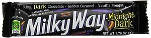 Milky Way Midnight Dark Single Candy, 1.76 oz bars  (Pack of 24)