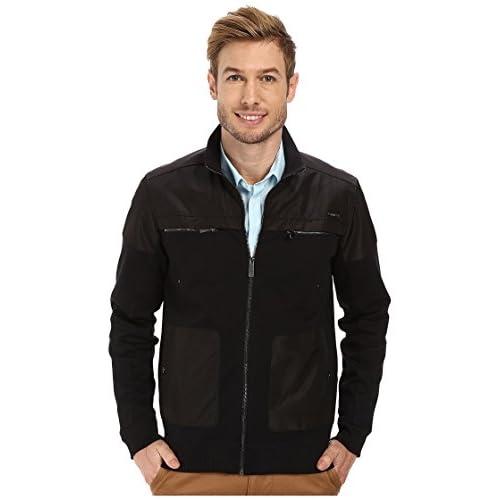 [カルバンクライン] Calvin Klein メンズ Long Sleeve Full Zip Solid Sweatshirt ジャケット Black LG [並行輸入品]