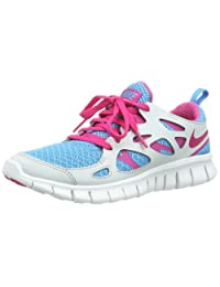 Nike Free Run 2 GS Grey Blue Youths Trainers -