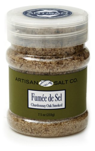 Artisan Salt Co. Fumee De Sel Chardonnay Oak Smoked Sea Salt, 7.5 Ounce Jar (Artisan Smoked Salt compare prices)