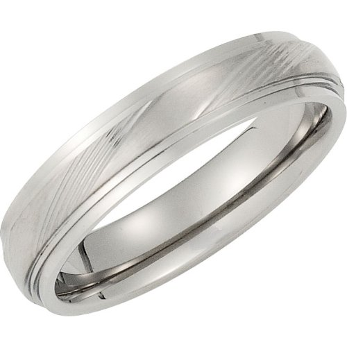 Titanium, Polished Edge Wedding Band (sz 6)
