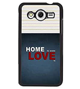 Fuson 2D Printed Quotes Designer back case cover for Samsung Galaxy Core 2 - D4487