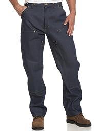 Carhartt Men\'s Utility Double Front Logger Dungaree,Denim,30 x 34