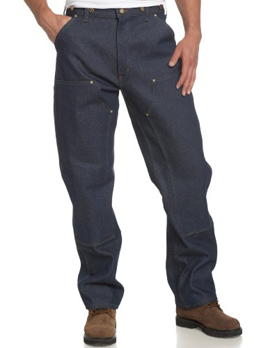 Carhartt Men'S Double Front Logger Dungaree Pant B07, Denim, 30X34 front-953773
