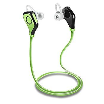 Tenswall ワイヤレス イヤホン ヘッドホン Bluetooth 4.0 スポーツイヤフォン カナル型 マイク搭載 防汗仕様 Iphone6S 6 5S 5C 4S 4, Ipad, Android, Samsung Galaxy,スマートフォン等に対応 (グリーン)
