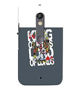 printtech Kings Back Case Cover for Motorola Moto X Play Dual SIM