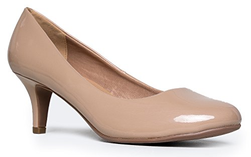 Women's Classic Closed Toe Kitten Heel Pump | Dress, Work, Party Mid Heeled Pumps | high Casual Comfortable Sale