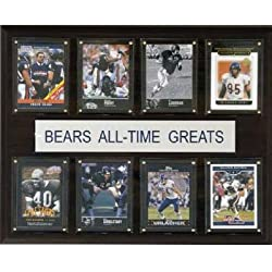 NFL All Time Greats Plaque - Chicago Bears - Cherry Wood with Licensed Cards