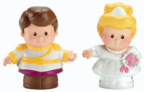 Fisher-Price Little People Disney 2 Pack: Cinderella and Prince Charming Children, Kids, Game