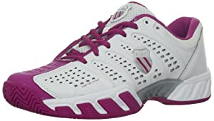 K-Swiss Women's Bigshot Light Tennis Shoe, White/Magenta/Silver, 6.5 M US