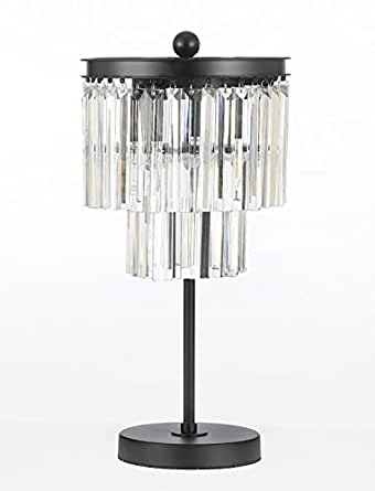 Odeon Glass Fringe 3 Light Table Lamp Crystal Modern Desk Lamp Bedside Lamp Living Room Or For