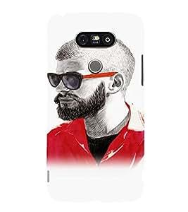 EPICCASE Guy with a beard Mobile Back Case Cover For LG G5 (Designer Case)
