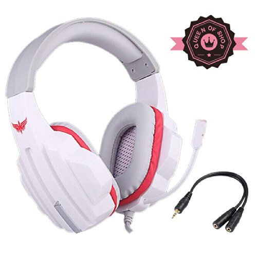 Vp500 White Large Size Earmuffs Bass Reflex High Fidelity Sound Unit Virtual 4.1 Channel Sound Aggressive Game Headset Copper Wire With Noise Canceling Microphone