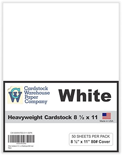 White Heavy Weight Cardstock 8.5