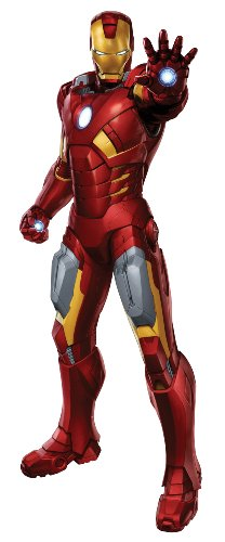 RoomMates Iron Man Giant Wall Decal (Standing With Laser)