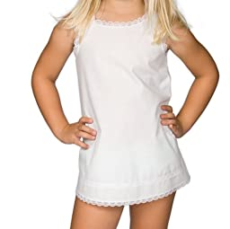 I.C. Collections Baby Girls White Simple A-Line Slip, 12m
