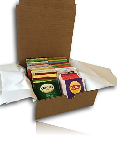 AtHome Plus Ultimate Assorted Tea Variety Pack-- Bigelow, Stash, Good Earth, Salada, Twining Teas (40 Count) - Flavorful Sampler Caffeinated and Decaffeinated Fresh Natural Teabags packed in Gift Box (American Care Package compare prices)