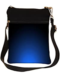 Snoogg Glowing Blue Design Cross Body Tote Bag / Shoulder Sling Carry Bag