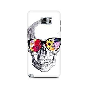 Ebby Skull Loves Flowers Premium Printed Case For Samsung Note 5