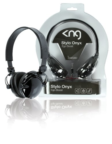 KNG Stylo Ego Boost Designer Headphones - Black