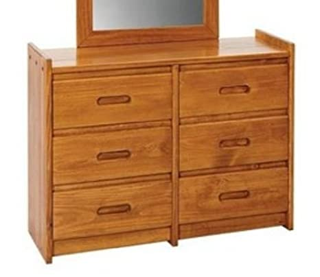 Rustic Six Drawer Dresser