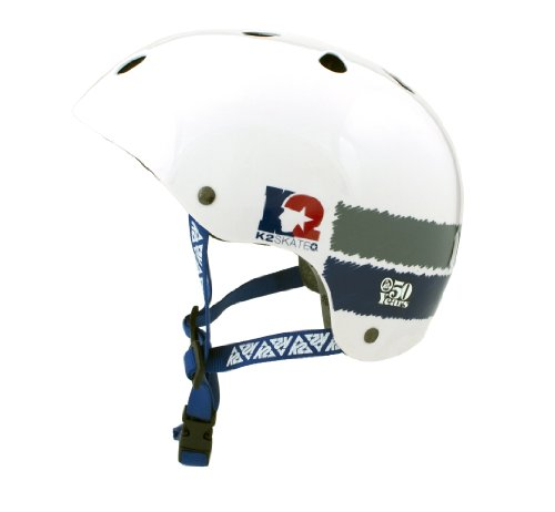 K2 Sports 50Th Anniversary Helmet (White/Blue/Grey) () | ToolFanatic.com