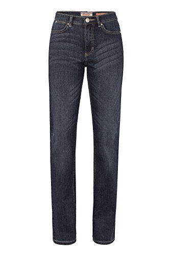 Damen 5 Pocket Jeans der Marke Paddock's, Stil: Slim Fit, Kate (60 399 1380 000), Größe:W44/L34;Farbe:blue black medium stone + heavy moustache(5706)