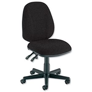 Trexus Intro Operators Chair PCB High Back H490mm Seat W490xD450xH440-560mm Charcoal