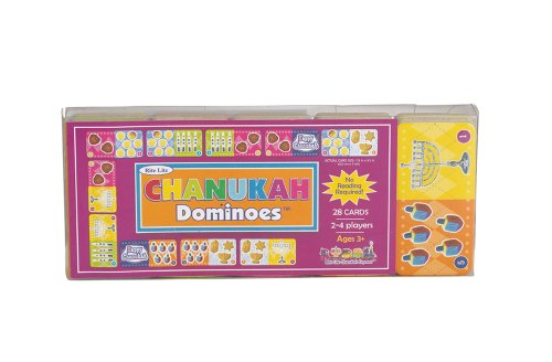 Rite-Lite Judaica Chanukah Dominoes Game. 28 pcs, color Box