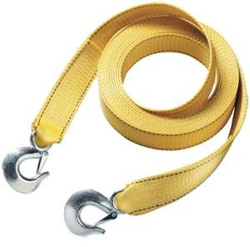 "Learn More About Master Lock 3175AT 25' X 2"" Tow Strap with Forged Hooks and Clips, 10000 lbs B..."