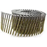 B&C Eagle A314X120HDRC Round Head 3-1/4-Inch x .120 x 15 Degree Hot Dip Galvanized Ring Shank Wire Collated Coil Framing Nails (400 per box)
