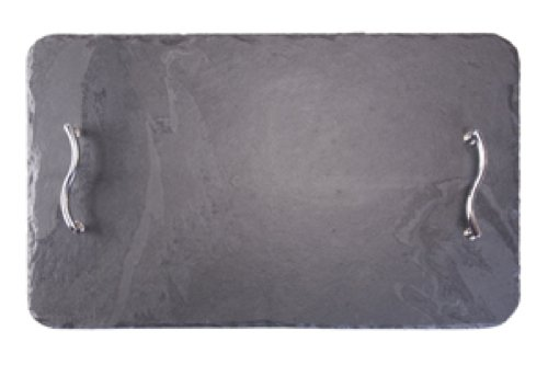 Platos individuales Slate Rectangular 50 x 30 cm Bandeja para servir/plato/tabla de cortar queso, negro