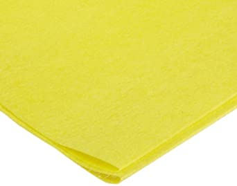 "Dynalon 626745-0003 Yellow Low Linting Golden Dusters with Poly Bag, 24"" Length x 24"" Width (Bag of 50)"