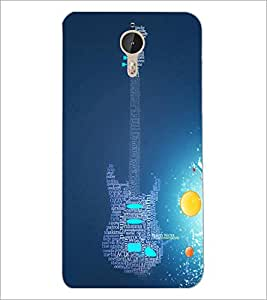 PrintDhaba Typographic Guitar D-3452 Back Case Cover for LETV (LE ECO) LE 1 PRO (Multi-Coloured)