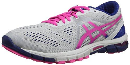 ASICS Women's Gel-Excel33 3 Running Shoe,White/Hot Pink/Blue,11 M US