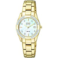 Citizen EW1822-52D Regent Eco-Drive Mother of Pearl Dial Gold Tone Women's Watch
