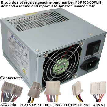 Fsp Group Fsp300-60Pln 300W Power Supply With 6 Pin Aux Connector front-435063