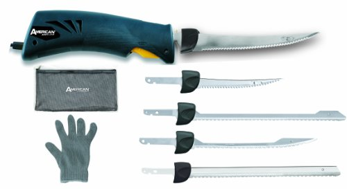 American Angler Classic Efk Knife With 5 Blades And Glove, Blue