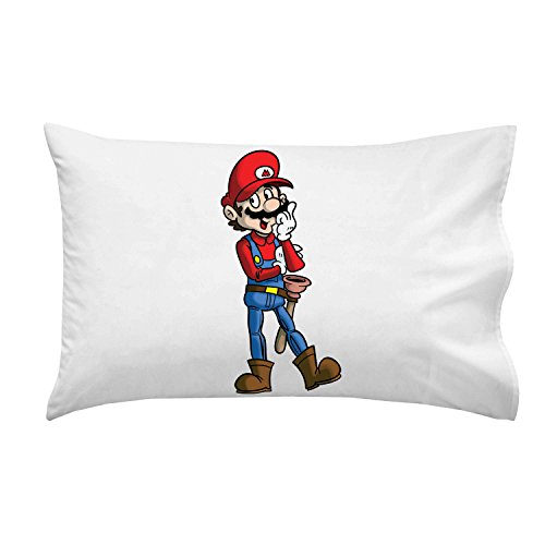 """Plumbing Story"" Western Cowboy Hero Character Funny Video Game & Children'S Cartoon Movie Parody - Pillow Case Single Pillowcase front-805138"