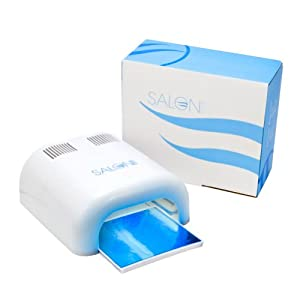Salon Edge 36W Nail UV Lamp Acrylic Gel Shellac Curing Light Timer 36 Watt Dryer With Slide Out Tray