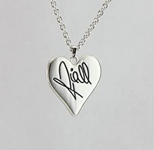 Niall Horan ONE Direction Heart Signature Necklace w/ Special 1D Gift Box by Fun Daisy Jewelry