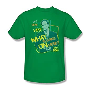 Buy Saved By The Bell - Mr. Belding Adult T-Shirt In Kelly Green by Saved The Bell