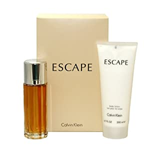 Escape by Calvin Klein for Women, Set (Eau De Parfum Spray 3.4 Ounce, Body Lotion 6.7 Ounce)